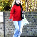Anais Gallagher in a Red Sweater Was Seen Out in North London