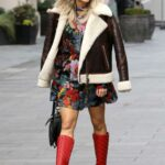 Ashley Roberts in a Floral Mini Dress Leaves the Global Studio in London