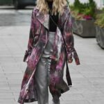 Ashley Roberts in a Silver Pants Leaves the Global Studios in London