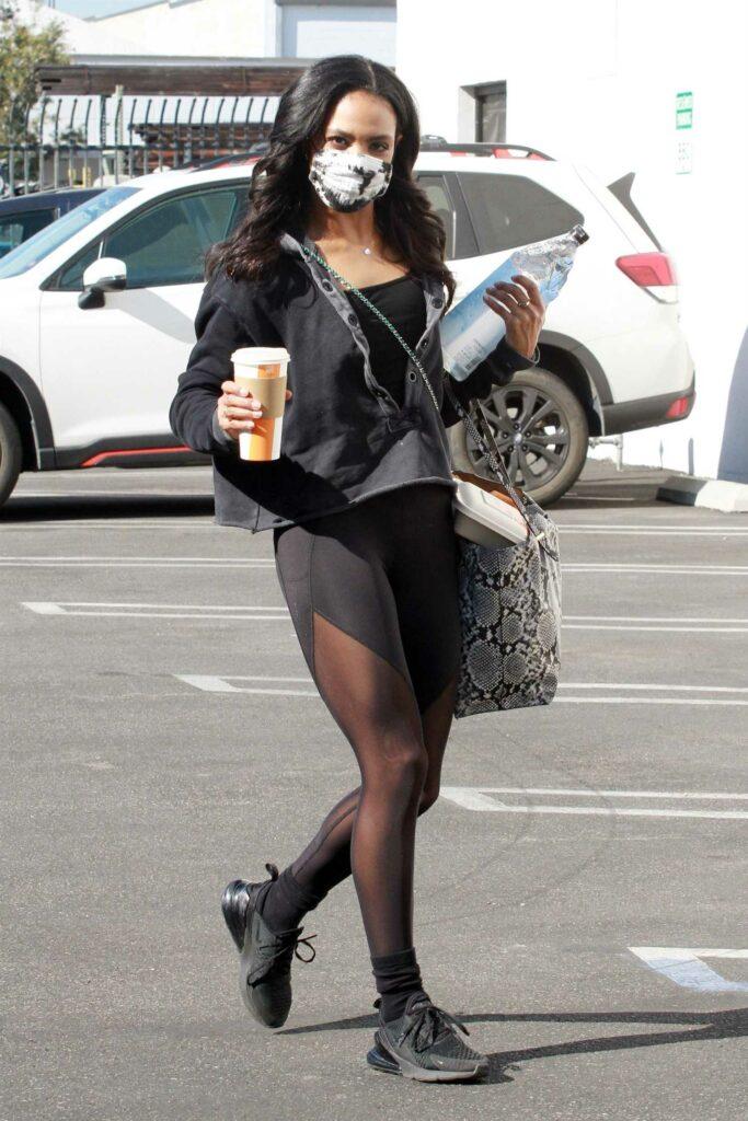 Britt Stewart in a Black Sneakers