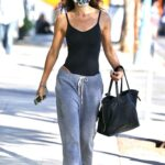 Brooke Burke in a Grey Sweatpants Was Seen Out in West Hollywood