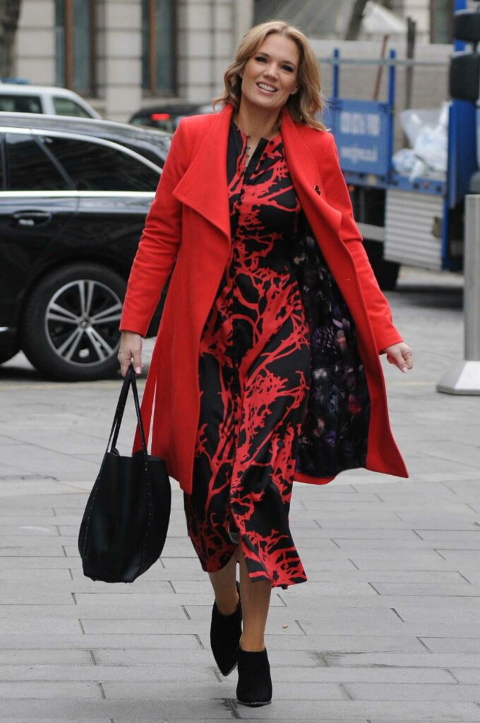 Charlotte Hawkins in a Red Coat