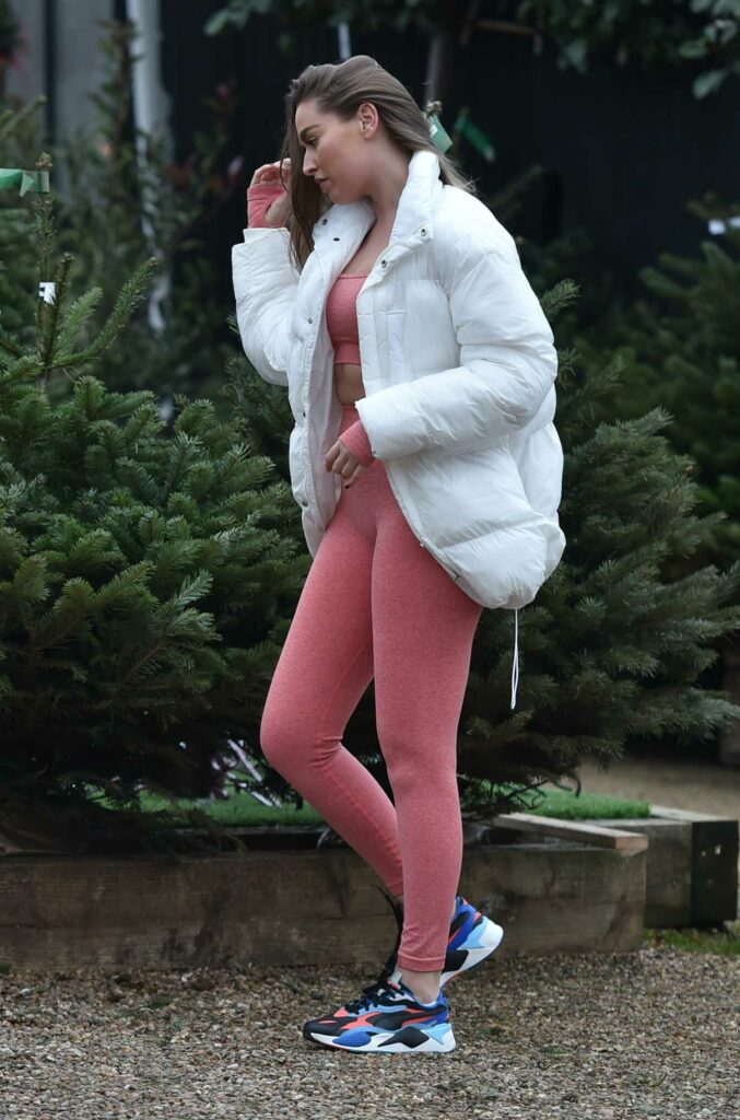 Chloe Ross in a Pink Workout Ensemble