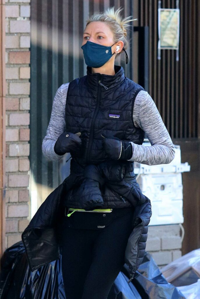 Claire Danes in a Protective Mask