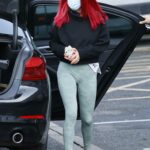 Dianne Buswell in a Protective Mask Arrives at Strictly Come Dancing Rehearsals in London