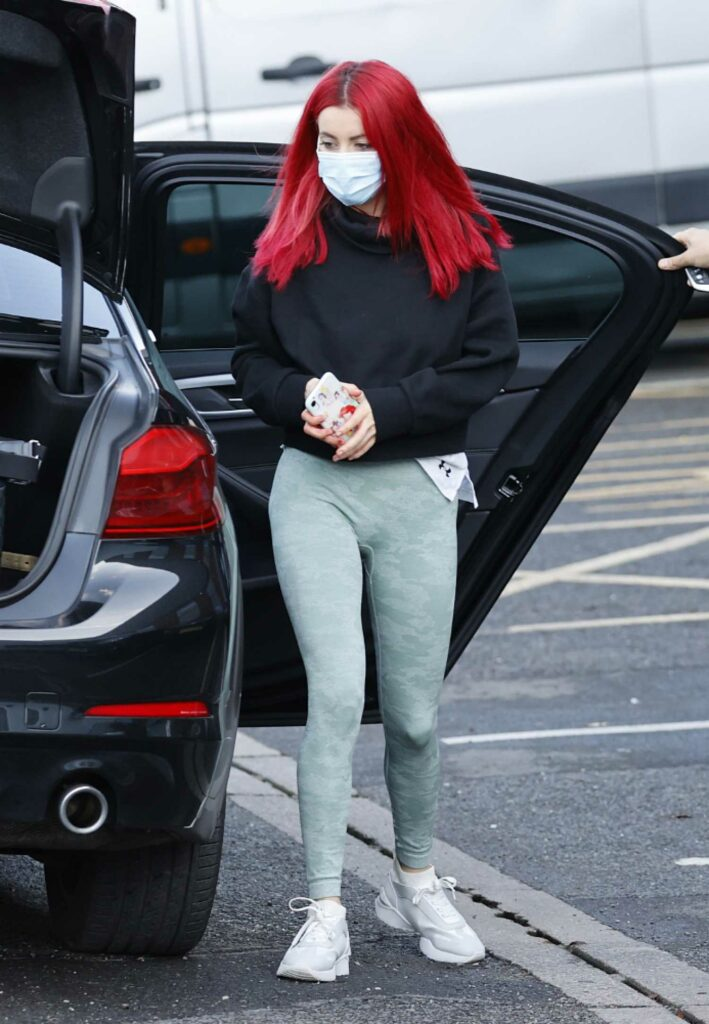 Dianne Buswell in a Protective Mask