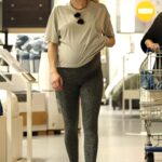 Emma Roberts in a Grey Leggings Does Some Shopping at Ikea in Los Angeles