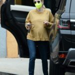 Emma Roberts in a Yellow Sweatshirt Was Seen Out in Los Angeles