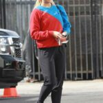 Emma Slater in a Black Sneakers Out with Sasha Farber Arrives at the DWTS Studio in Los Angeles