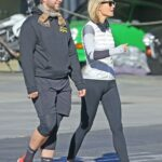 Gwyneth Paltrow in a Black Leggings Was Seen Out with Her Husband Brad Falchuk in Los Angeles