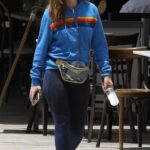 Isla Fisher in a Blue Track Jacket Was Seen Out in Sydney