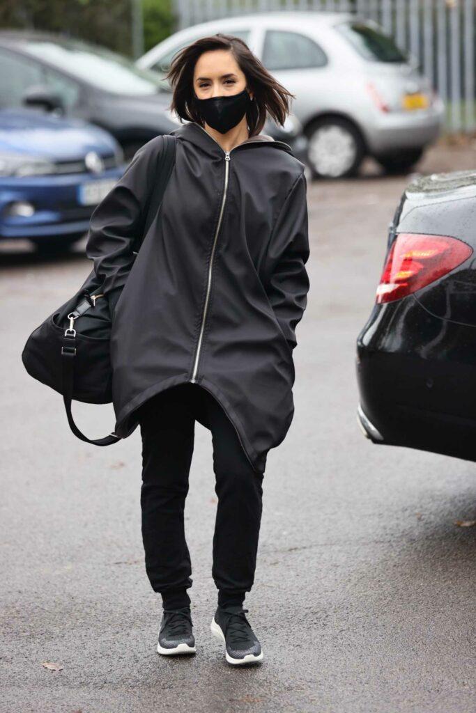 Janette Manrara in a Black Protective Mask