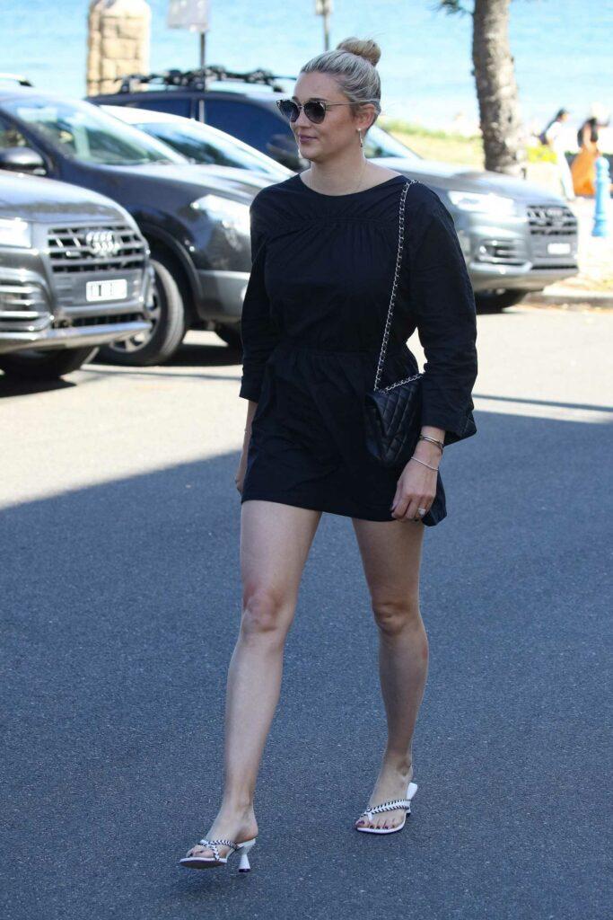 Jasmine Yarbrough in a Black Dress