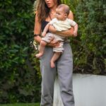Jenna Dewan in a Black Top Was Seen Out with Her Son in Los Angeles