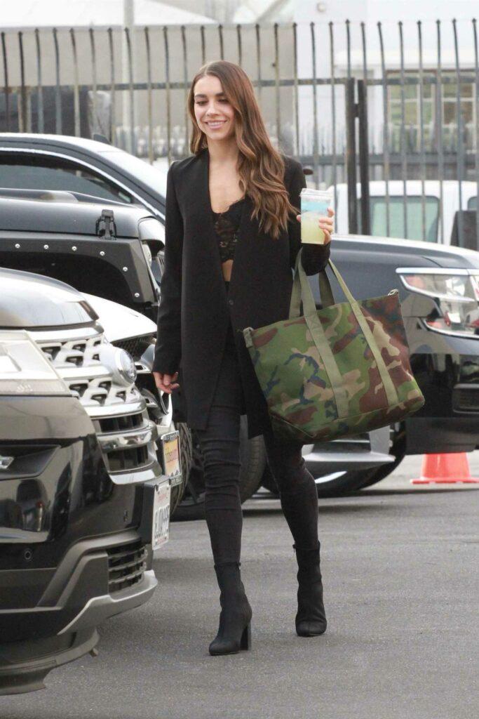 Jenna Johnson in a Black Blazer