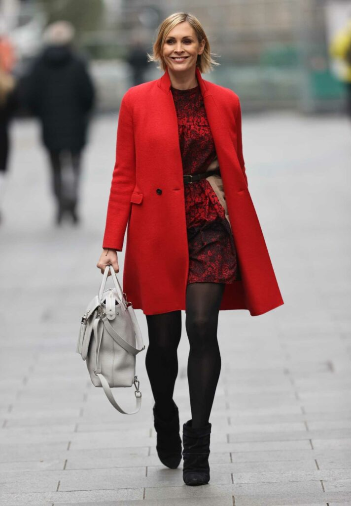 Jenni Falconer in a Red Coat