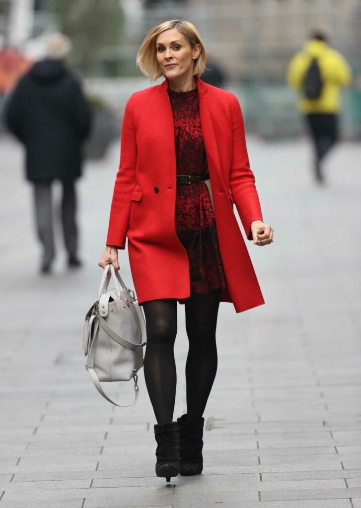 Jenni Falconer in a Red Coat
