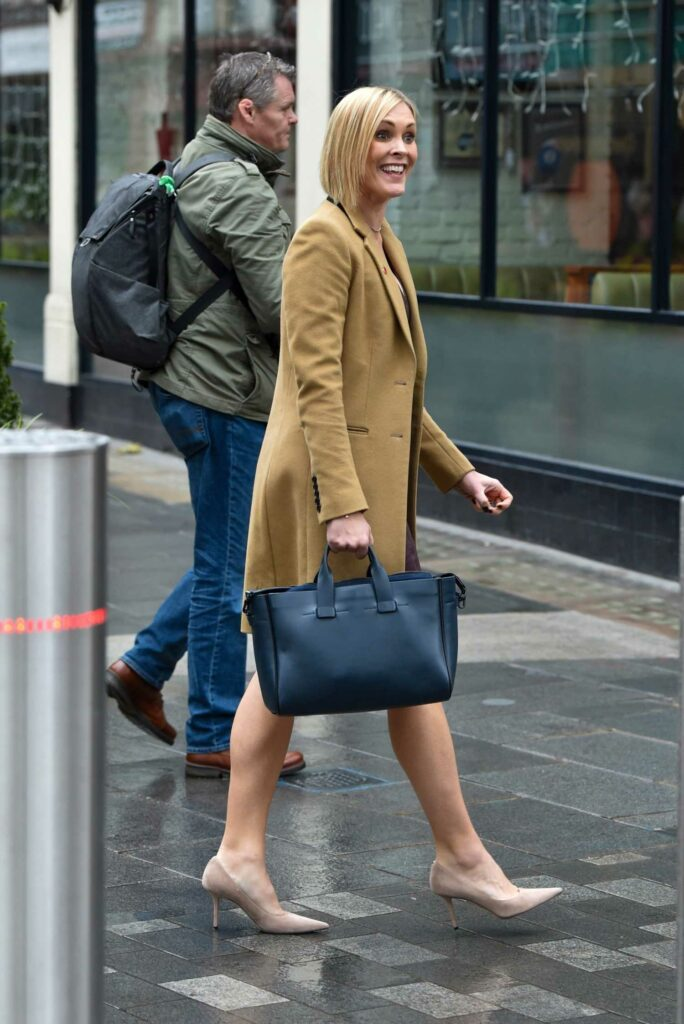 Jenni Falconer in a Yellow Coat