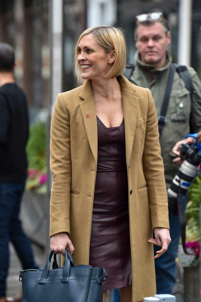 Jenni Falconer in a Yellow Coat