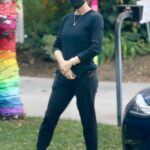 Jennifer Garner in a Black Protective Mask Was Seen Out in Brentwood