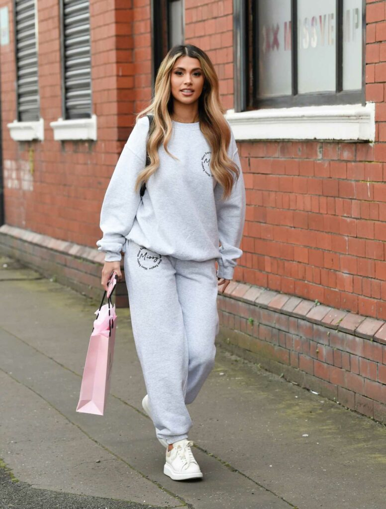 Joanna Chimonides in a Grey Sweatsuit
