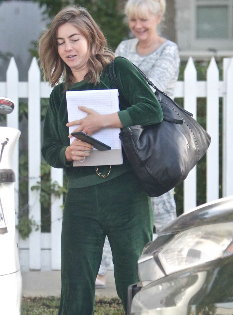 Julianne Hough in a Green Sweatsuit