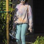 Kaia Gerber in a Tie Dye Hoodie Was Seen Out in Santa Monica