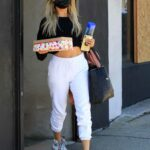 Kaitlyn Bristowe in a White Sweatpants Leaves the Dance Studio in Los Angeles