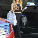 Kaitlyn Bristowe in a Black Top Arrives for Dance Practice at the DWTS Studio in Los Angeles