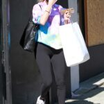 Kaitlyn Bristowe in a Tie Dye Sweatshirt Leaves Practice at the Dance Studio in Los Angeles