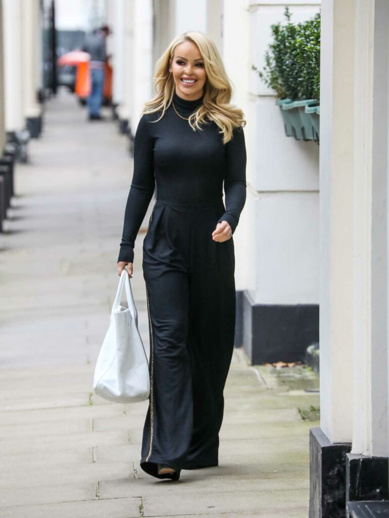 Katie Piper in a Black Outfit