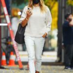 Kelly Bensimon in a Black Protective Mask Was Seen Out  in the West Village