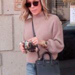 Kristin Cavallari in a Pink Turtleneck Leaves Nine Zero One Salon in West Hollywood