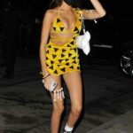 Madison Beer in a Yellow Dress Arrives at a Halloween Party in West Hollywood