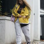 Maisie Smith in a Yellow Track Jacket Was Seen Out in London