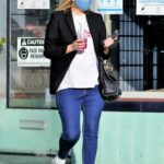 Mischa Barton in a Black Blazer Steps Out to Buy Some Flowers in Los Angeles