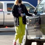 Mischa Barton in a Yellow Sweatpants Was Seen Out in Los Angeles