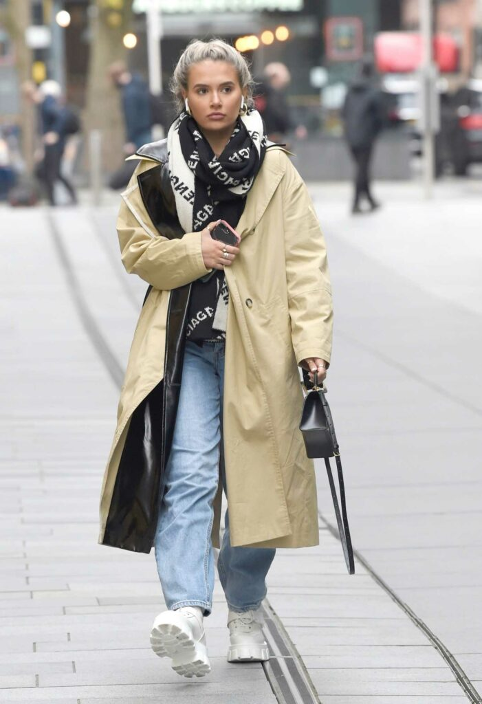 Molly-Mae Hague in a Beige Trench Coat