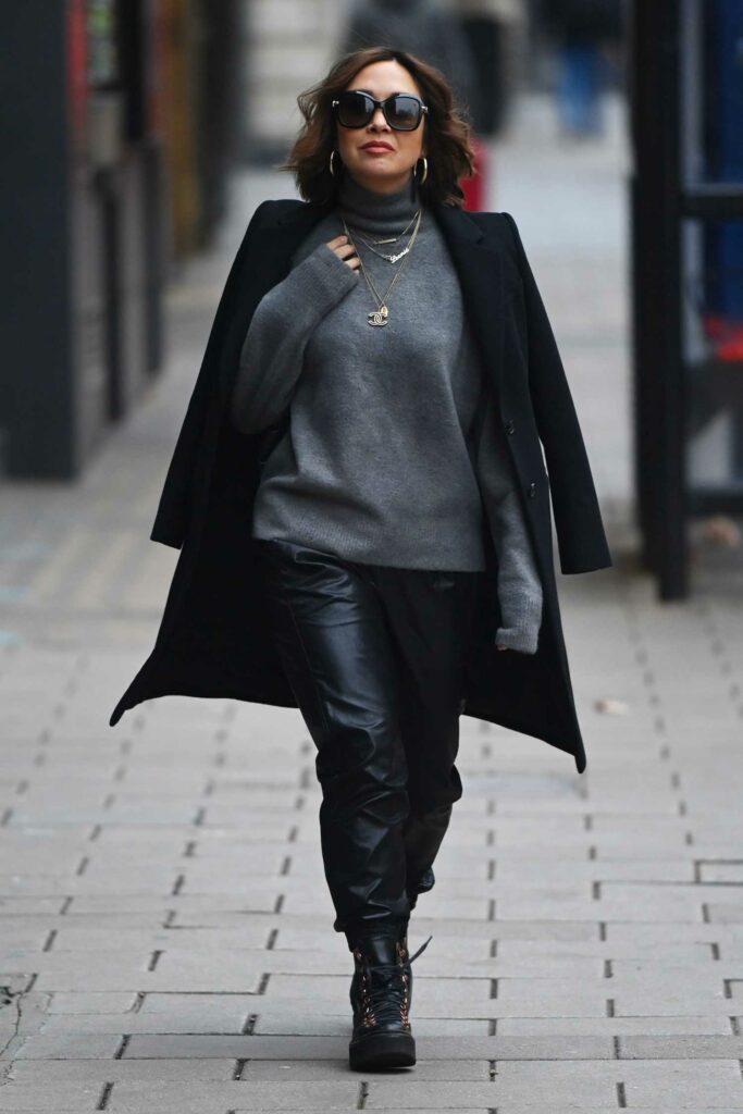 Myleene Klass in a Black Coat