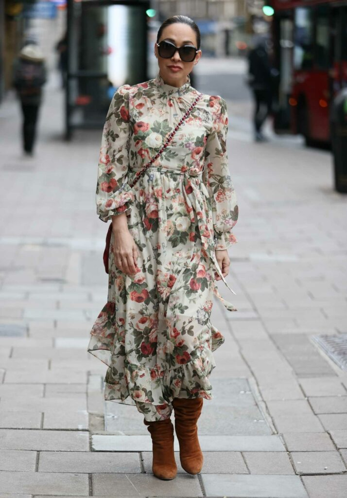Myleene Klass in a Floral Dress