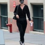 Nicky Hilton in a Black Tracksuit Leaves Lunch in Manhattan's Soho in New York