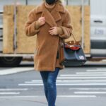 Nicky Hilton in a Tan Faux Fur Coat Was Seen Out in New York