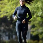 Nicole Scherzinger in a Black Outfit Does a Morning Workout in Los Angeles