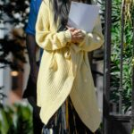 Nicole Scherzinger in a Yellow Cardigan Was Seen Out in Los Angeles