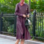 Olivia Palermo in a Purple Trench Coat Was Seen Out in New York