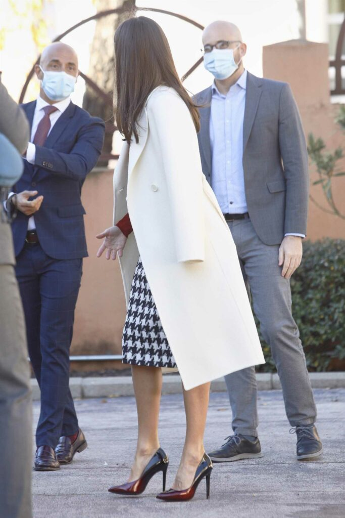 Queen Letizia of Spain in a Protective Mask