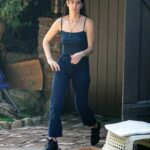 Scout Willis in a Black Top Does Some Cleaning Out the Garage in Los Angeles