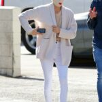 Selma Blair in a White Knit Hat Was Seen Out with Her Boyfriend Ron Carlson in Los Angeles