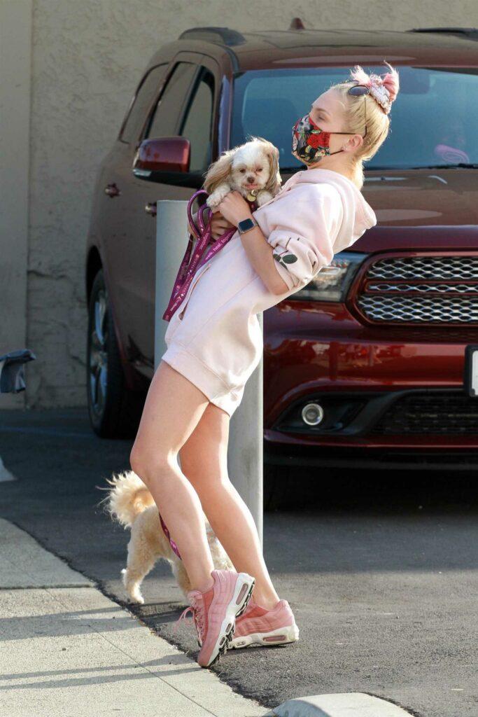 Sharna Burgess in a Pink Hoodie