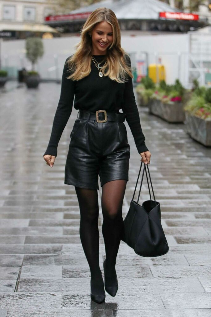 Vogue Williams in a Black Outfit